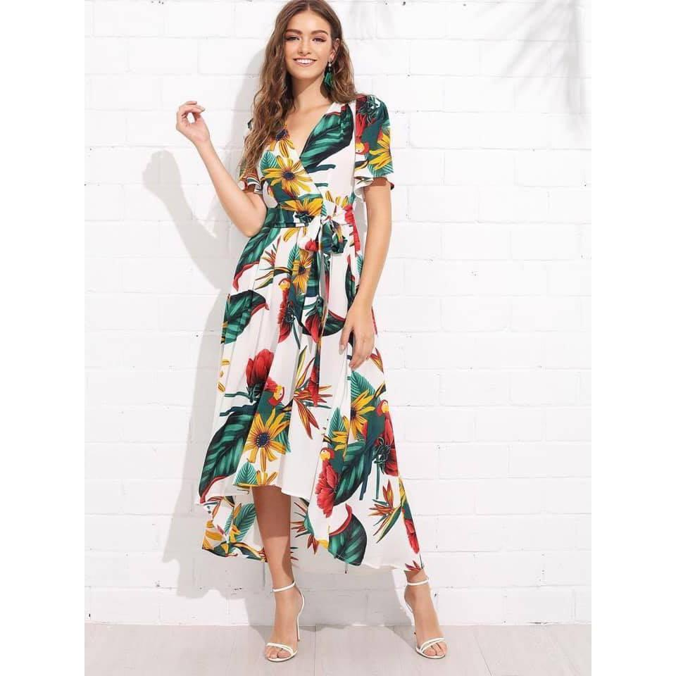 Jultees Hawaiian Maxi Dress