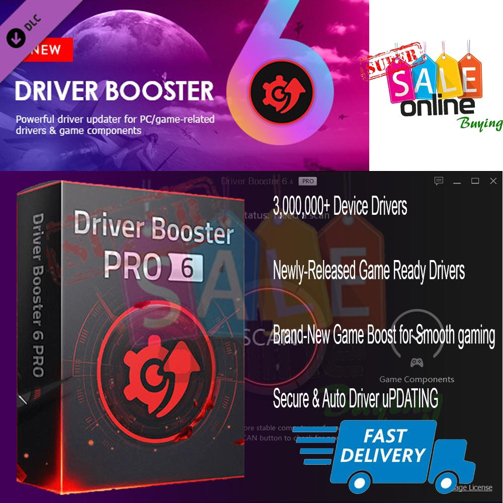 IOBit Driver Booster 6 4 32bit and 64bit Lifetime for Windows 7 8 10 Send  through email download