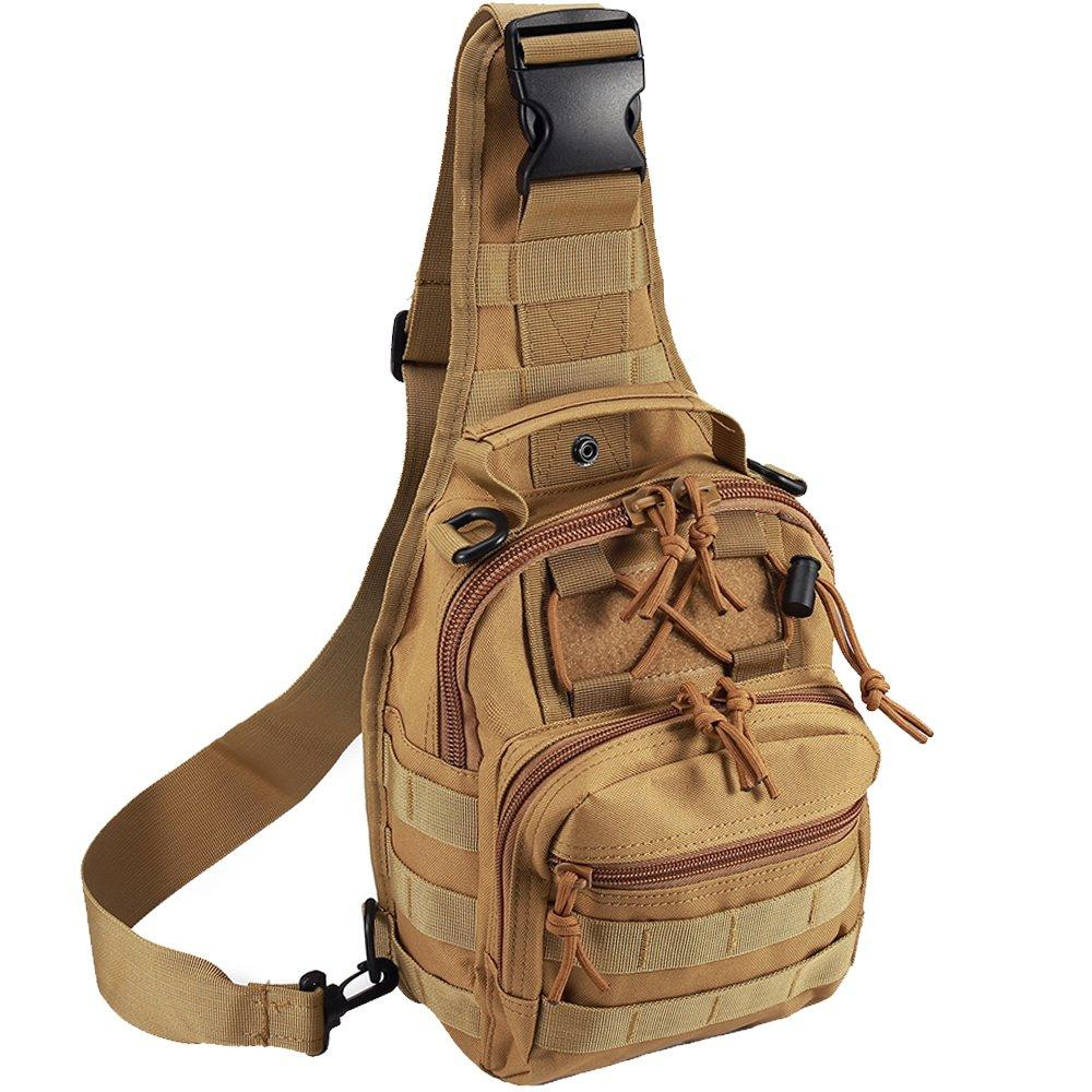 Tactical Sling Bag Crossbody Bags Military Tactical Chest Backpack Shoulder Bag Sling Daypack Travel Bag Pack for Hunting, Camping image on snachetto.com