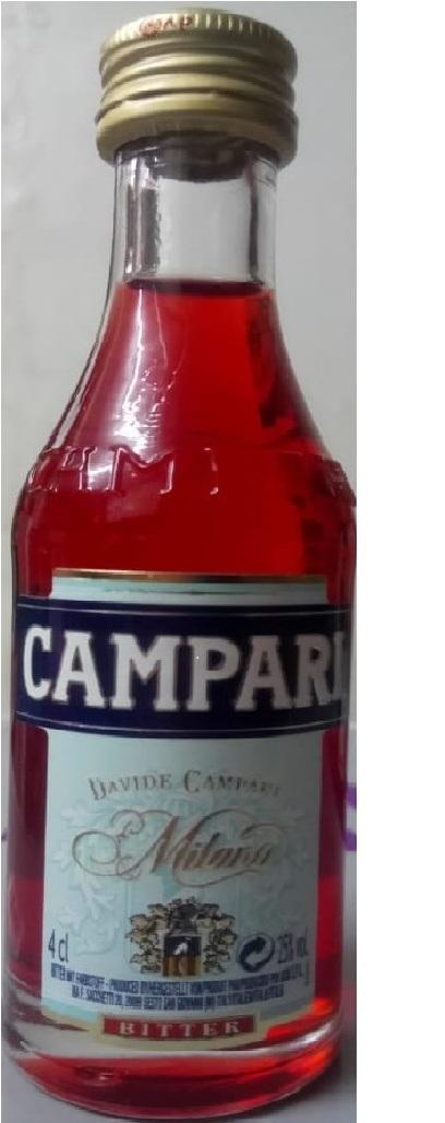 Campari Bitter Mini Bottle 40ml By Pmj Store.