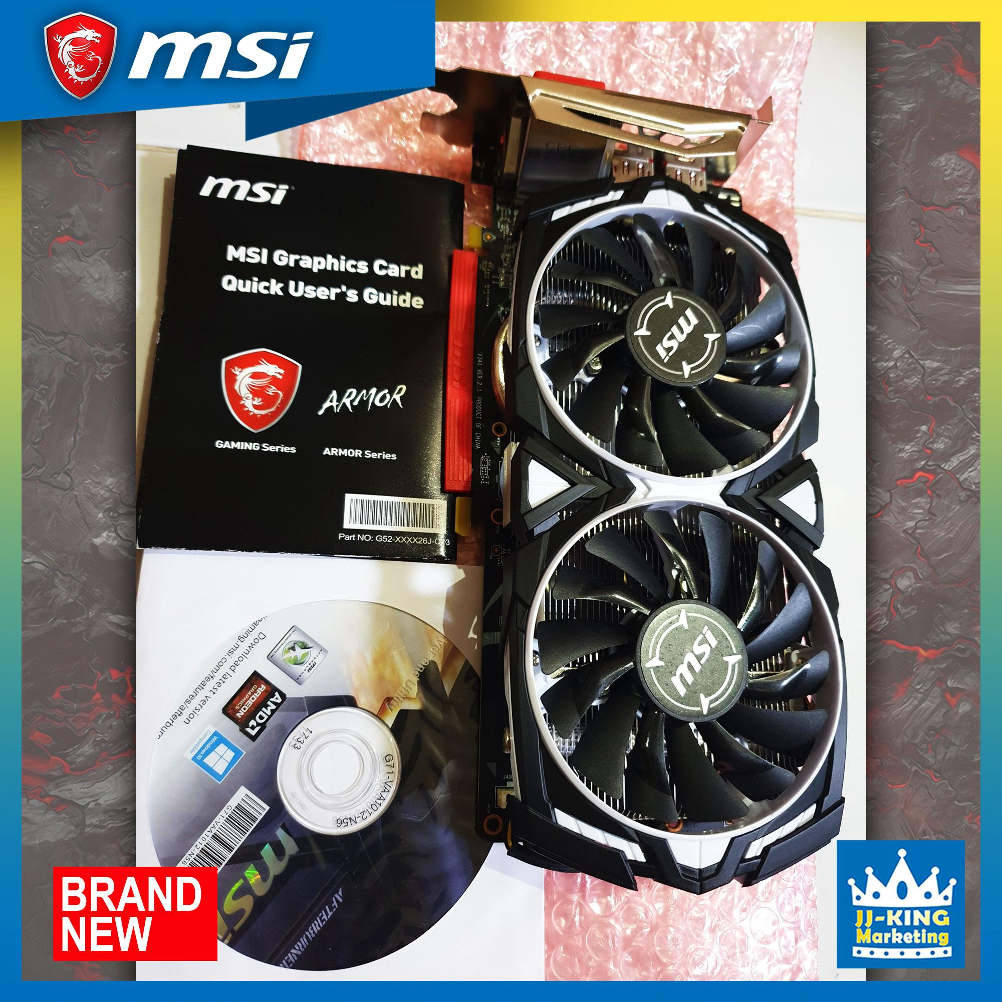 Brand new Msi Gaming Videocard RX 470 ARMOR 8GB DDR5 256bit video card OC /  PUBG /2K19/GRAPHICS ART