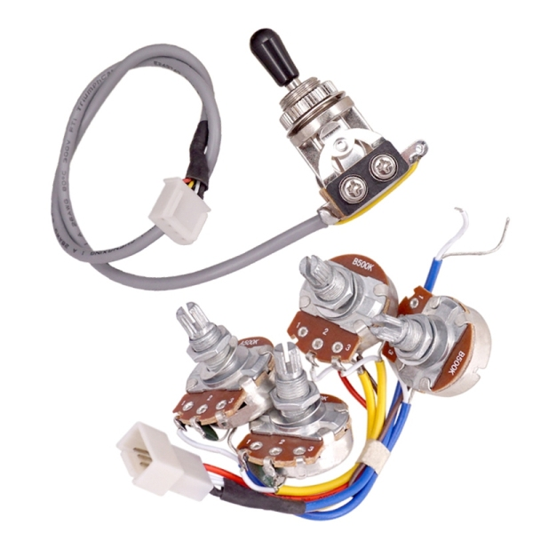 Lp Electric Guitar Pickups Circuit Wiring Harness 2T2V 500K Pots 3 Way Switch For Gibson Les Paul Style Guitar