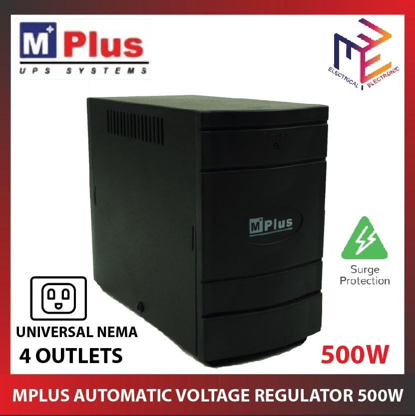 MPlus Automatic Voltage Regulator AVR Surge Protection1000VA/500W for  Computer, TV, Home Theater, Telephone, Fax, Gaming