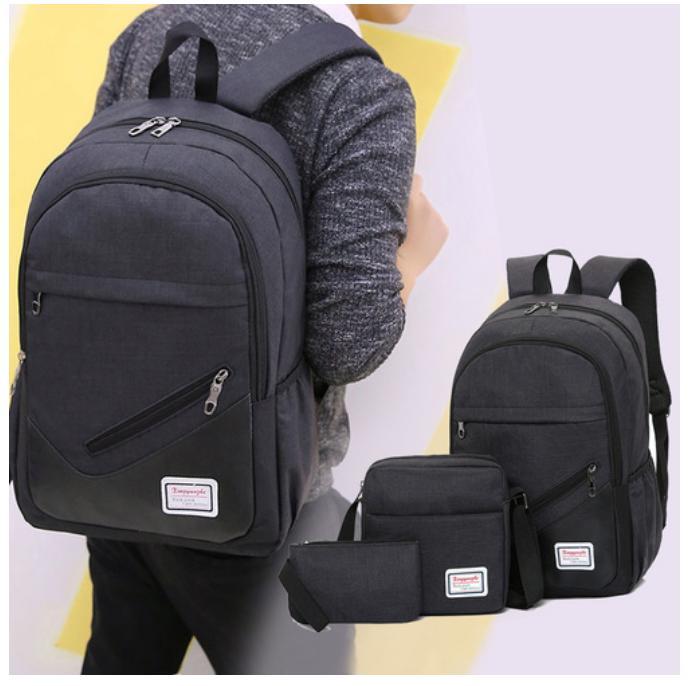 c26bc79b84 3 in 1 Men Backpack Travel Backpack Laptop Bag Laptop Backpack with Cross  Body Bag Sling