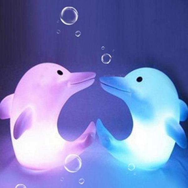 J & E Cá Heo Dễ Thương 7 Màu Thay Đổi Đèn Ngủ LED Trang Trí Đèn Ngủ Trẻ Em Quà Tặng Trẻ Em