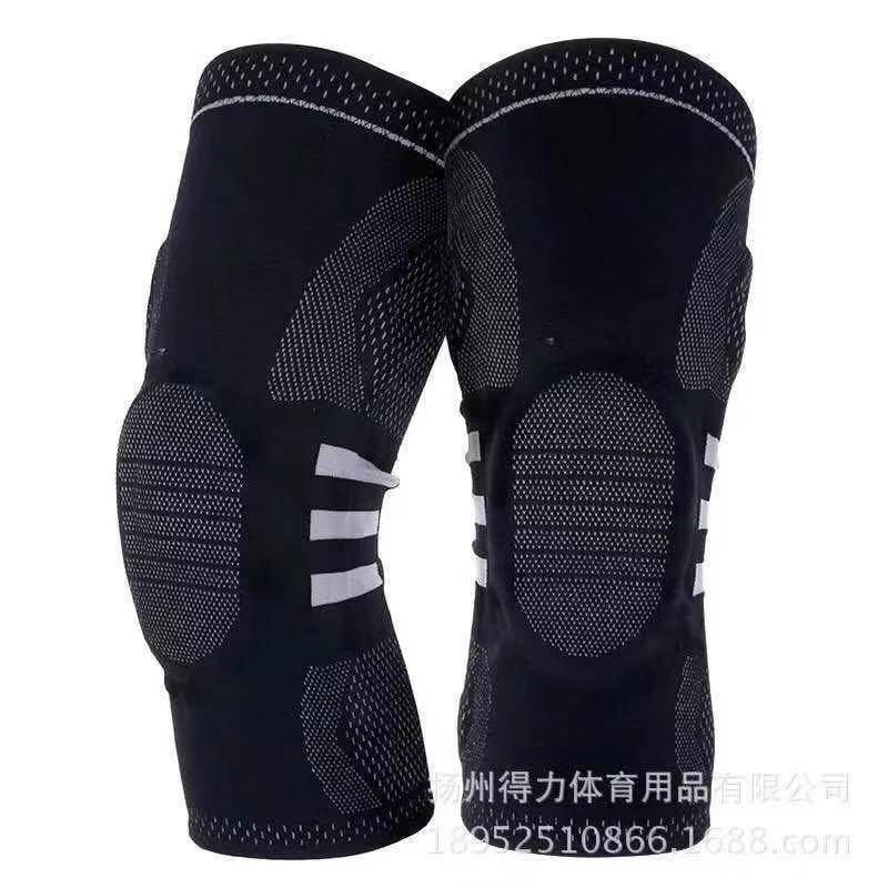 2 PCS Fashion Elastic Knee Support Brace Kneepad Adjustable Patella Knee Pads Basketball kneepadsSafety Guard Strap