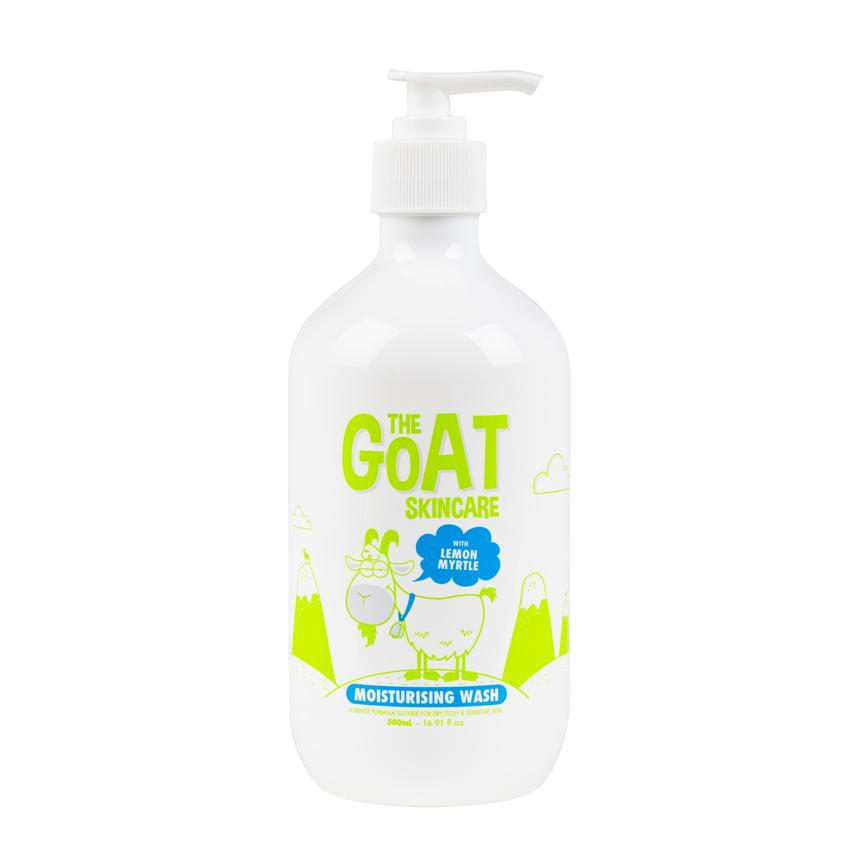 THE GOAT SKINCARE WASH WITH LEMON MYRTLE 500ML, 100% Made in Australia,  Body wash for itchy skin, Body wash for sensitive skin, Goats Milk Soap,  Soft