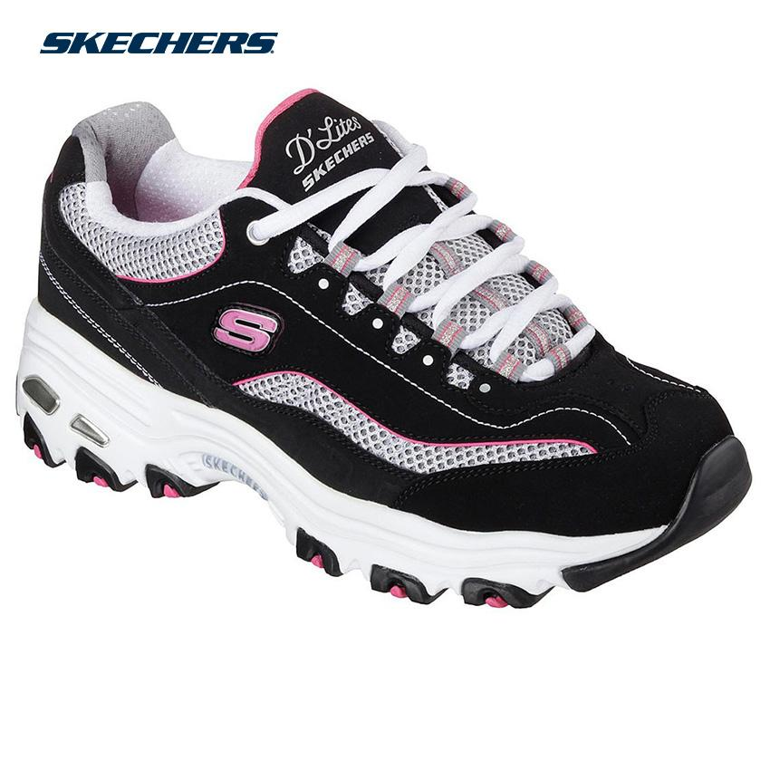 2d5ade8409c Skechers Women D'Lites - Life Saver Sports Footwear 11860-BKWP (Black,