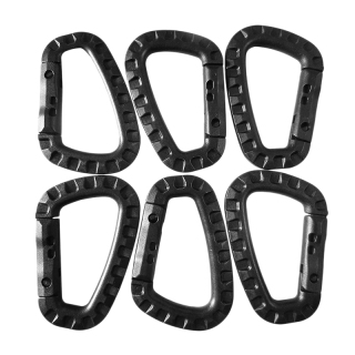 Carabiner Keychain Hard Polymer D Rings Light Weight Spring Snap Gear Clip Utility Hooks Backpack Hanging Buckle thumbnail