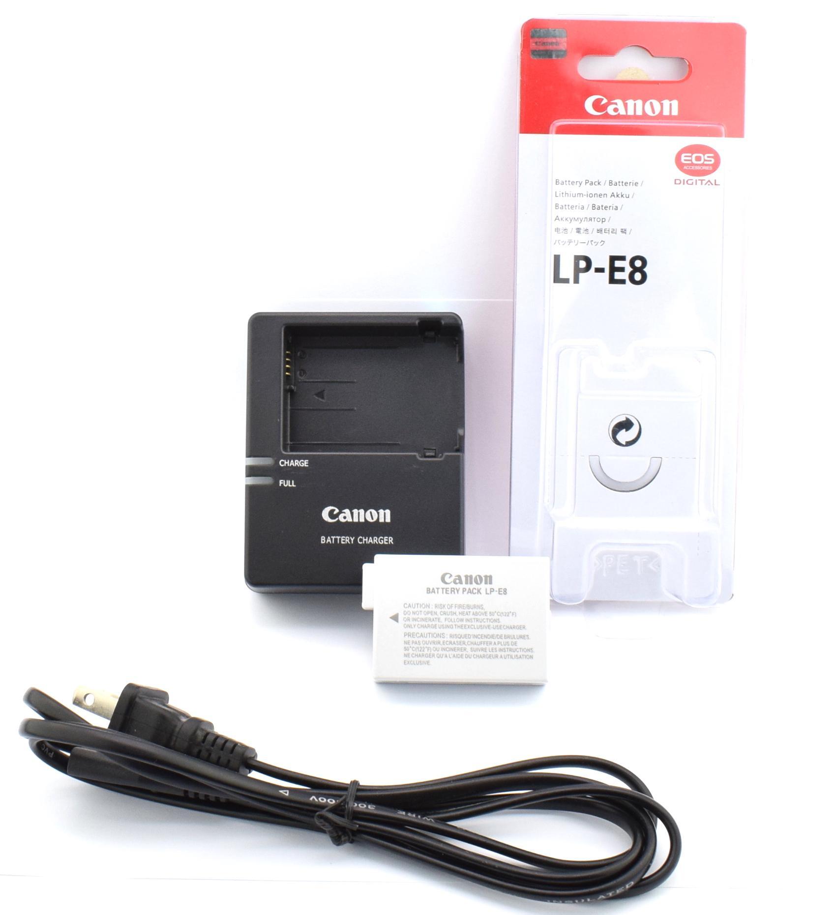 Canon Battery LPE8 LP E8 or LP-E8 for Canon 550D 600D 650D 700D and Canon  Battery Charger LC-E8C for Canon 600D 650D 700D EOS 550D Rebel T2i