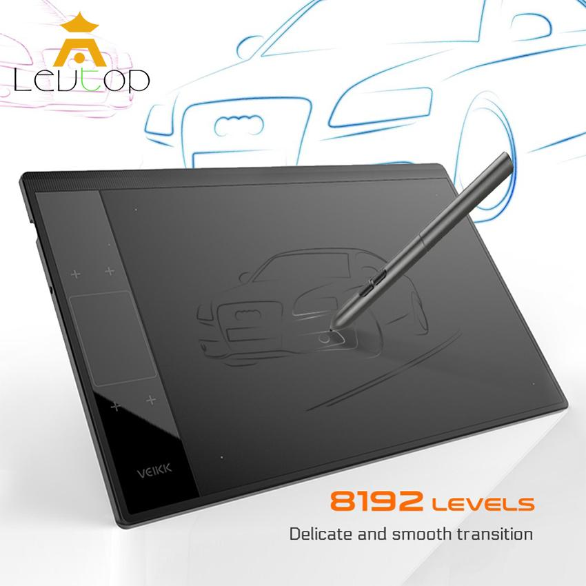 LEVTOP Graphics Drawing Tablet Board Drawing Pad Digital Drawing Pen Tablet with No-charging
