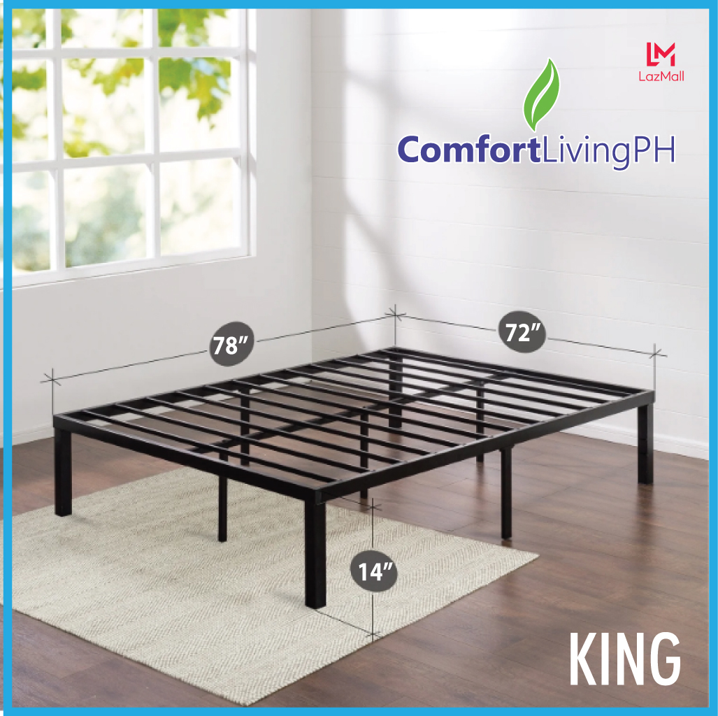 Comfort Living Premium Signature Platform Bed Frame King Size 72 X 78 Lazada Ph