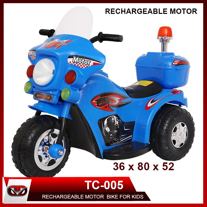 D&D TC-005 Rechargeable Motor Bike Kids Ride-on Toys Police Motorcycle