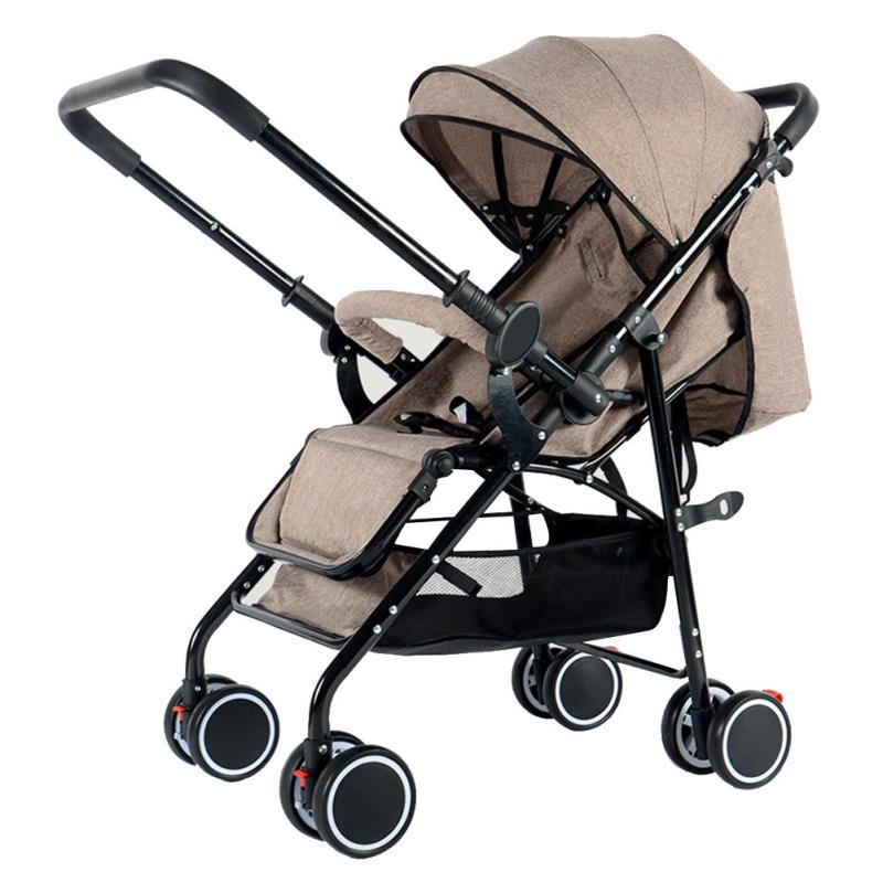 Umbrella Stroller Baby Infant Shock-proof Folding Umbrella Stroller for Lying Sitting Singapore