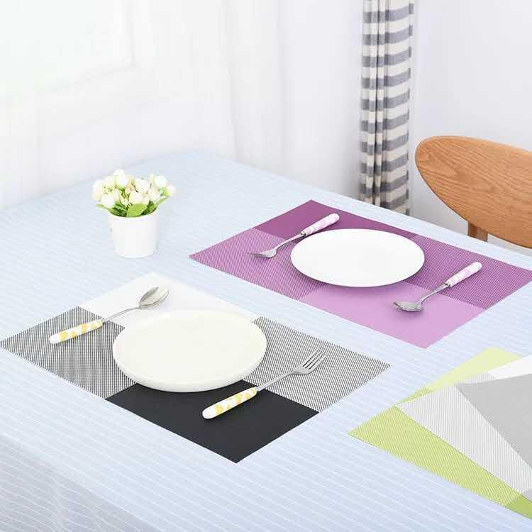 Table Placemat Lattice PVC Dining Table Mat Pads Bowl Pad Coasters Waterproof Table Cloth Pad Slip