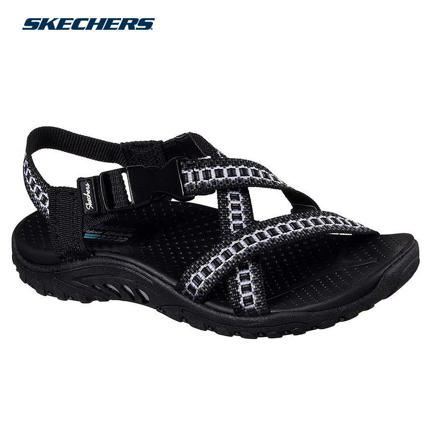 363d70816121 Skechers Women Reggae - Kooky Sandals-Athletic Footwear 40876-BKGY (Blaack  Gray)