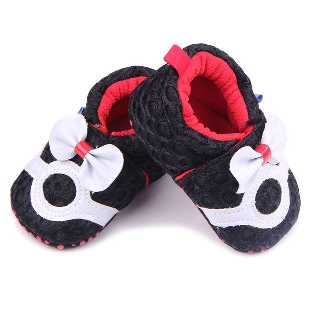 Stonershop Anak Bayi Perempuan Anak Sepatu Bayi Baru Lahir Sepatu Kets Ikatan Simpul Sepak Bola Wesh