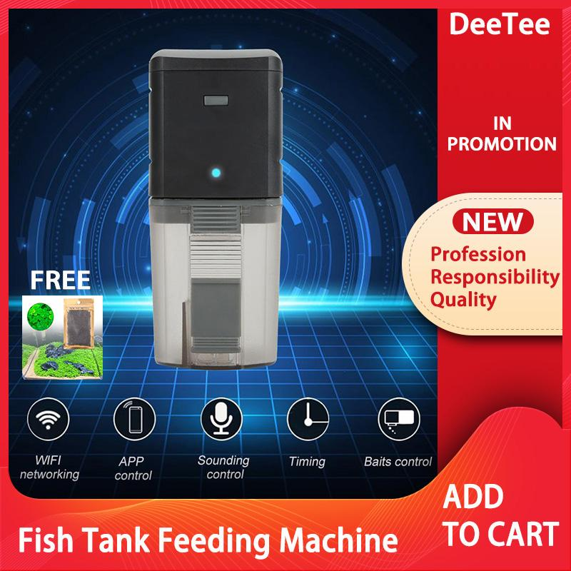 Wifi Wireless Remote Intelligent Control Fish Tank Feeding Machine Aquarium Feeder By Deetee Shop.