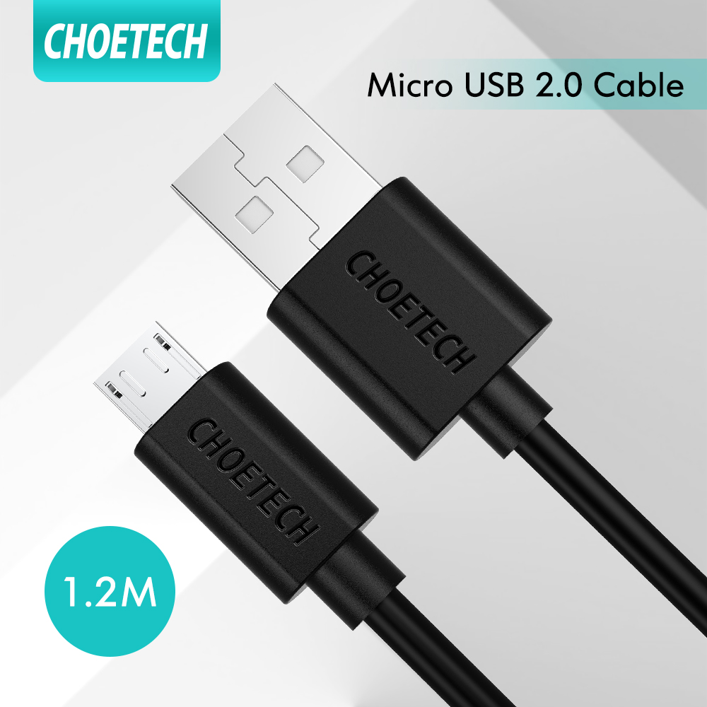 CHOETECH Micro USB Cable, Micro USB Cable 2.4A Charging Cable Micro USB for Huawei Y9, Huawei Nova 3i, OPPO F9, OPPO F11, VIVO V10, VIVO V11, vivo v11 pro, xiaomi redmi note 5 Fast Charger Cable.
