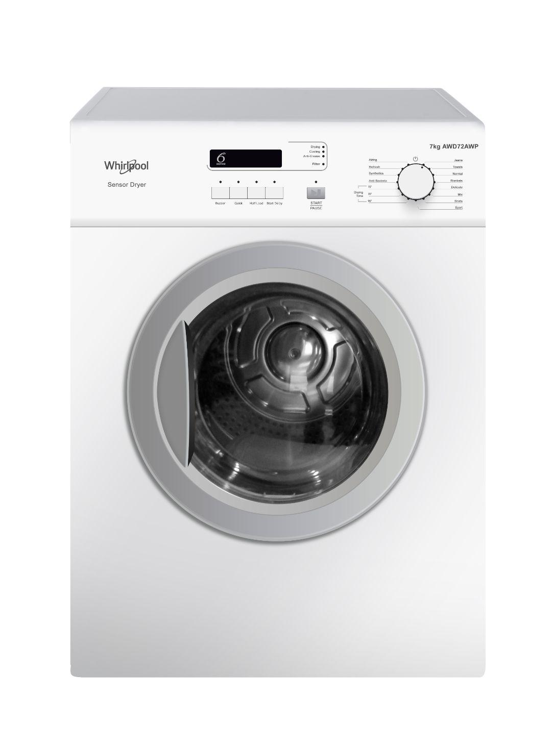 Whirlpool 7 2 kg  Front Load Dryer AWD 72 A WP (White)