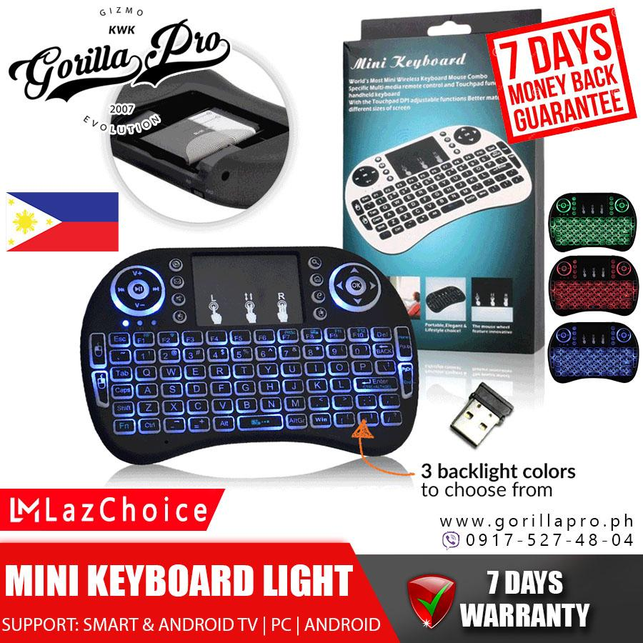 I8 Mini Wireless Backlit Keyboard 2.4 GHz USB Touchpad Keyboard Air Mouse Remote Control For Android
