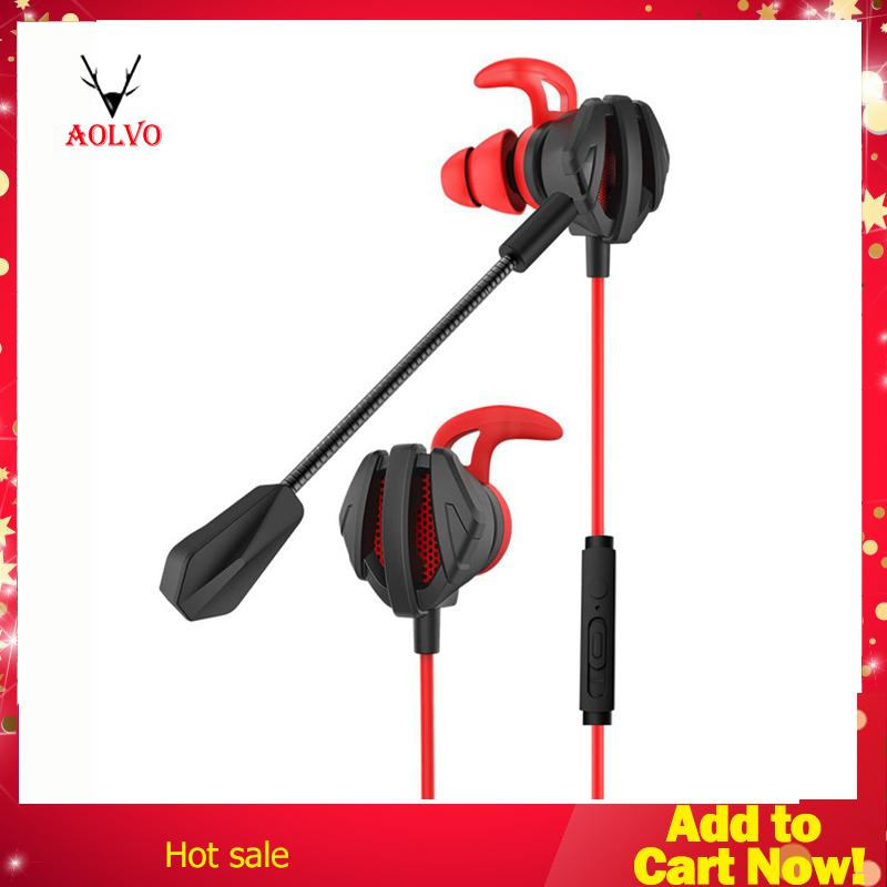 f444a4e9f8337f Aolvo PUBG Gaming Earbuds, E-Sports 3.5MM Earphones Noise Cancelling in-Ear
