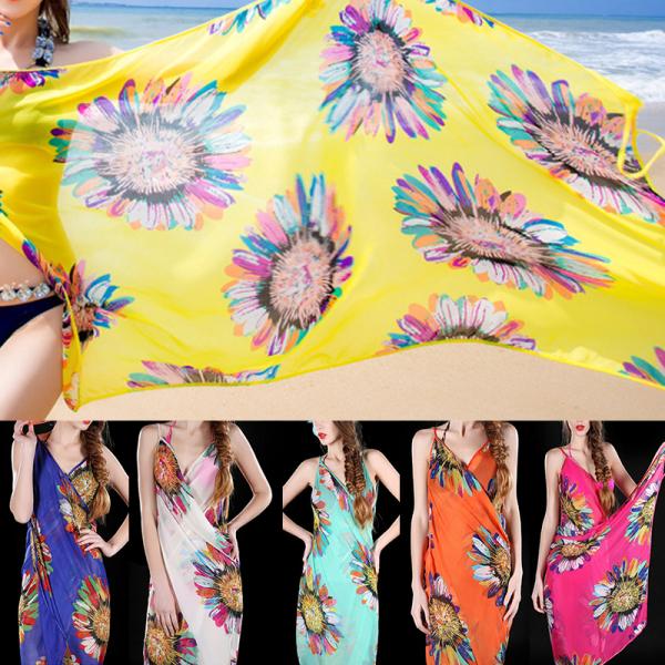 XiaoSongShu 1PC Tops Sarong Swimwear Dress Beach Bikini Cover-up Backless Casual Apron  One Size