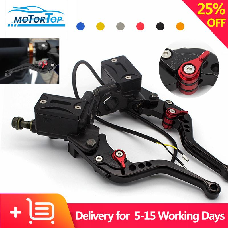 Mp 1 Pair Universal 7/8 22mm Motorcycle Brake Clutch Master Cylinder Reservoir Pump Levers Hydraulic Clutch Lever (black) By Motortop.