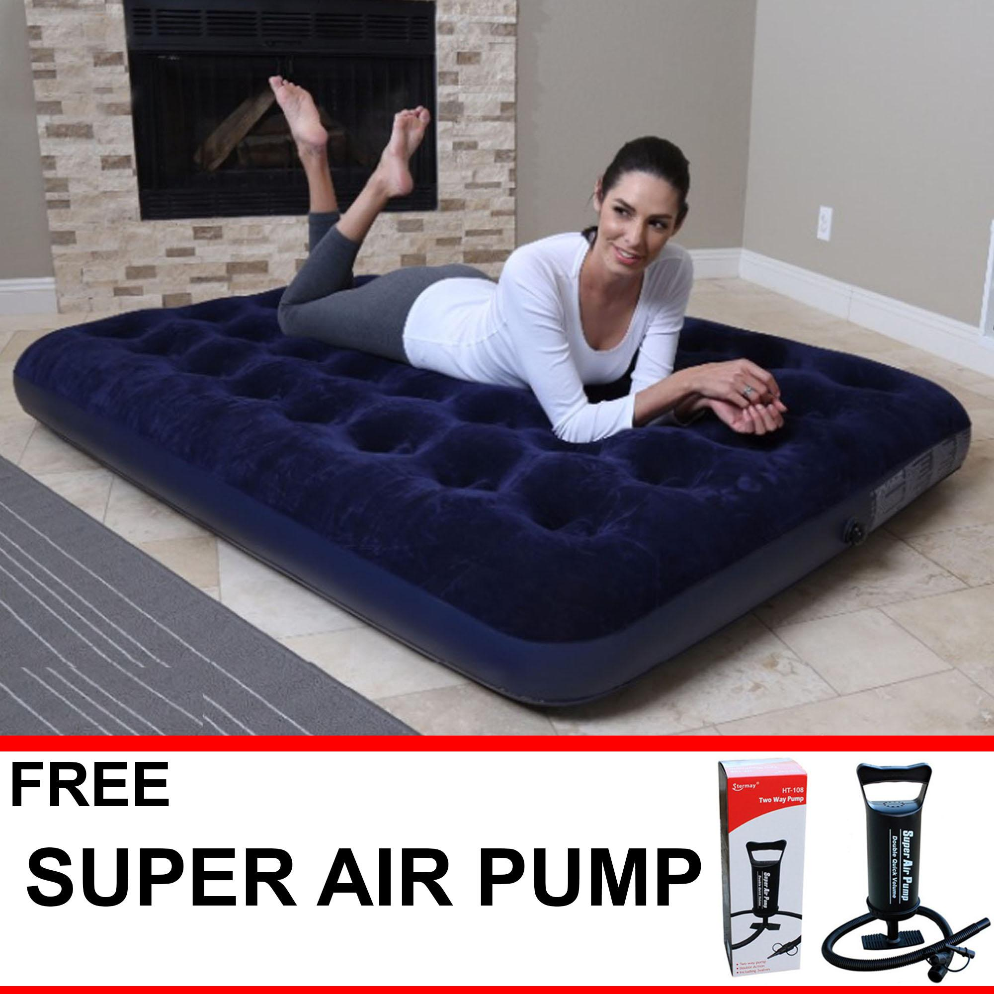 Bestway Inflatable Camping Air Bed Double Size Free Super Air Pump By Vtow Cp Gadget.