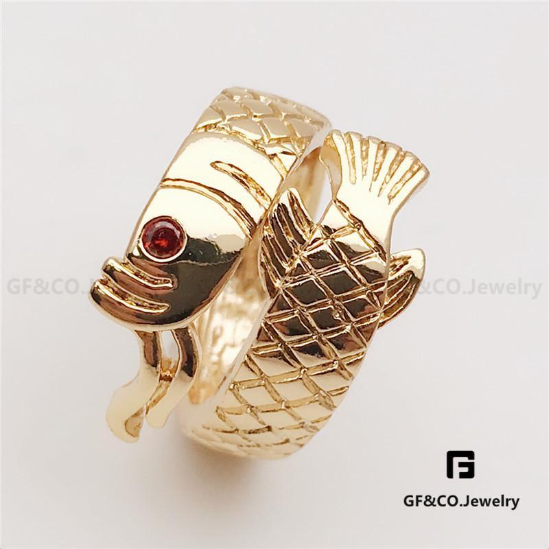 GF Co. Lucky Charms Feng Shui Adjustable Crystal Eyed Arowana Ring 3e91ecc77e