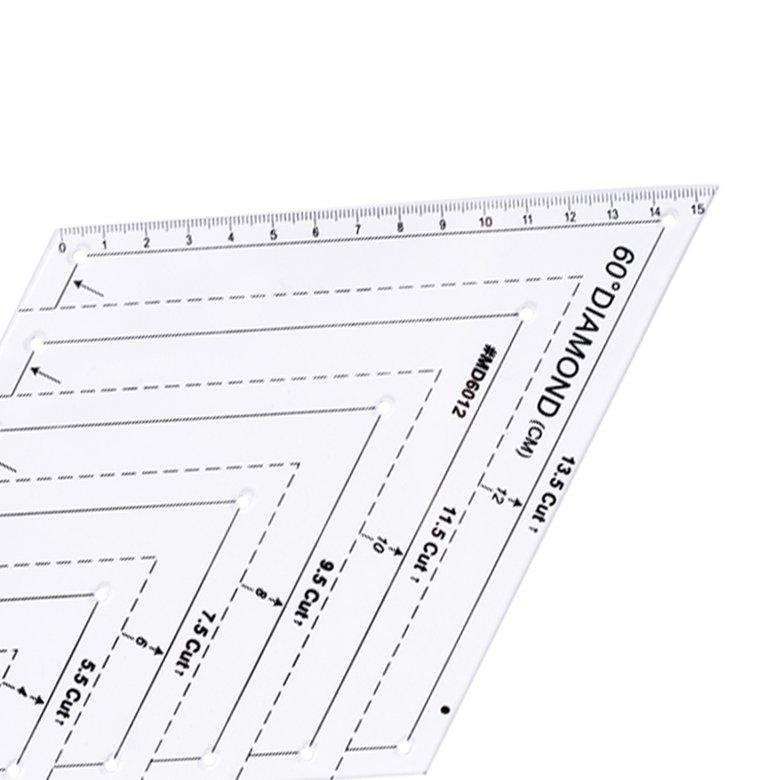 HORI 60 degree patchwork ruler Ruler Diamond ruler DIY patchwork handmade ruler