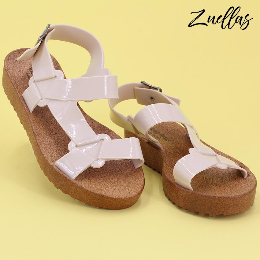1b069bcc8070 Zuellas Women s Zofia Open Toe Soft Casual Flat Sandals (LC-1802)