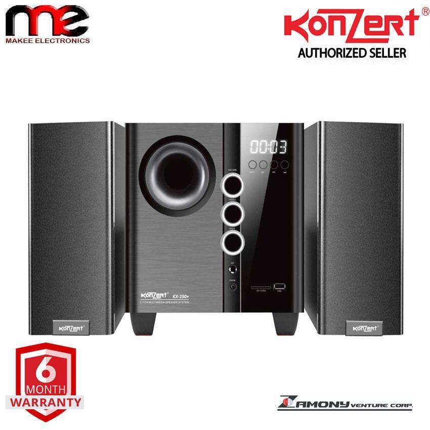 Konzert Kx 250+ Bluetooth Multimedia Speaker 2500w Pmpo (black) By Makee Electronics.