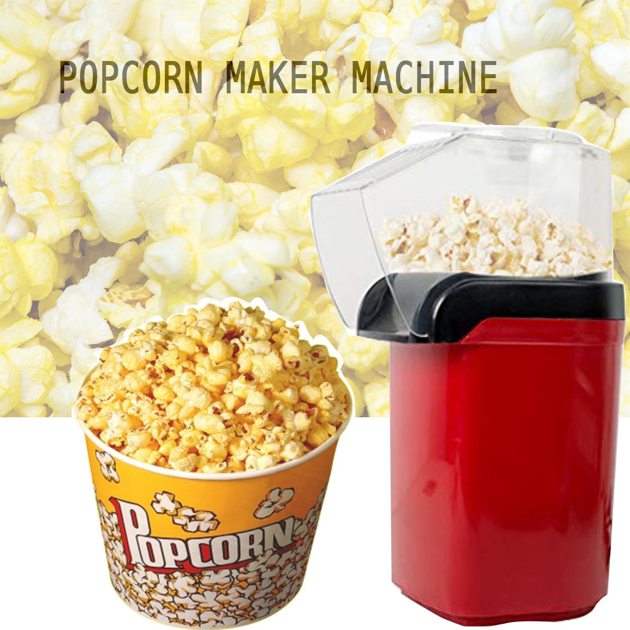 Household Electric Corn Popcorn Maker Automatic Mini Hot Air Popcorn Making Machine Corn Popper 110v 220v By Elena Accessories