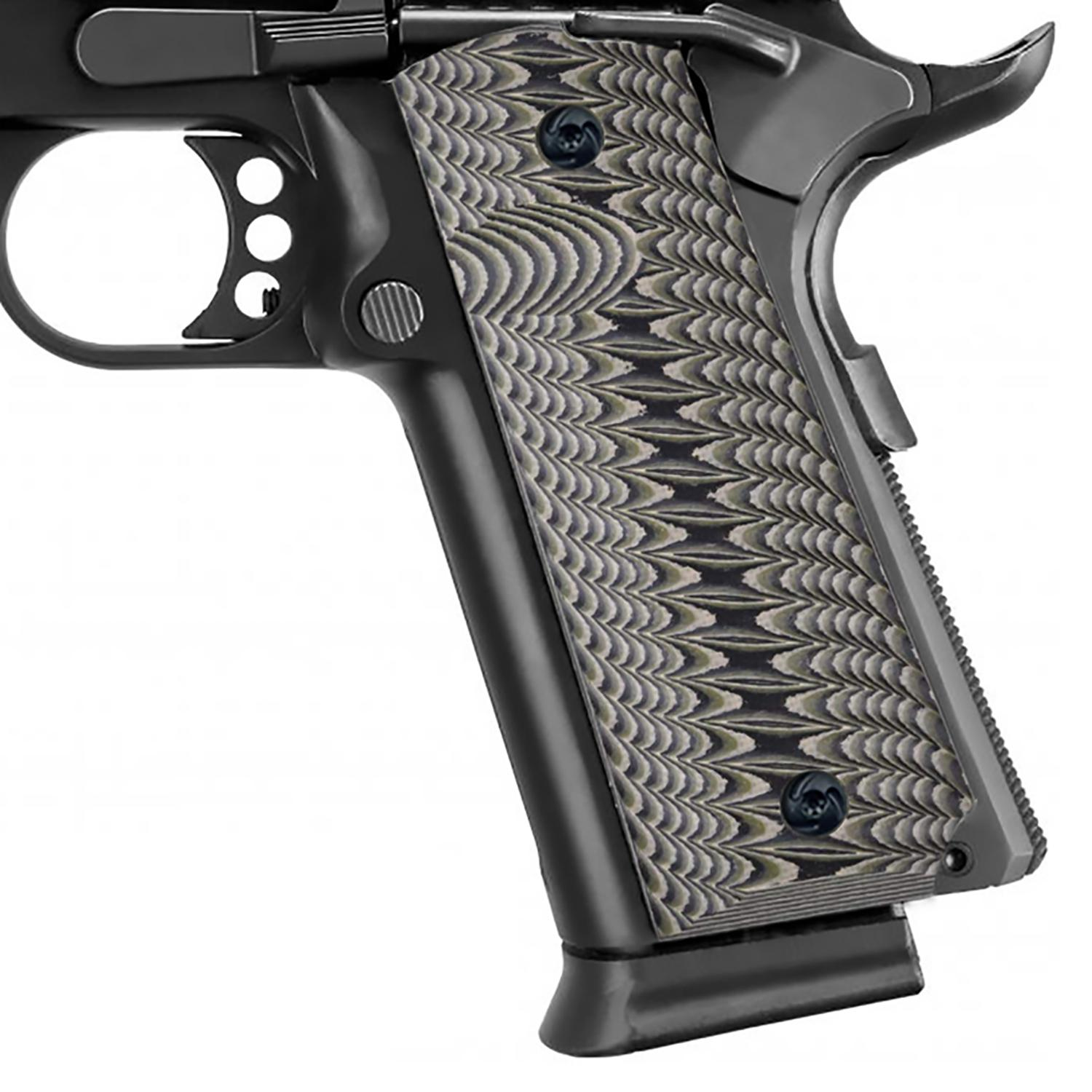 Guuun 1911 Grips Full Size Ambi Custom G10 Grip Claw Mark Texture