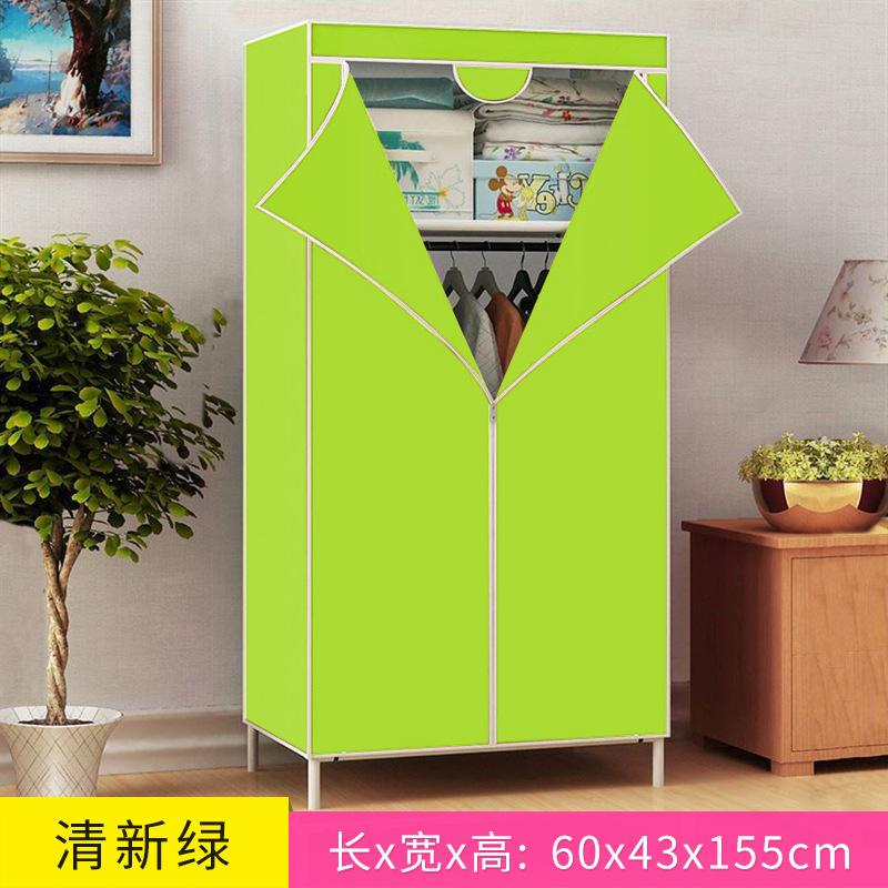 ZX-Simple Wardrobe 3D Pattern Closet Nonwoven Fabric Folding Cloth Wardrobe Reinforced Closet Small Panoramic Closet