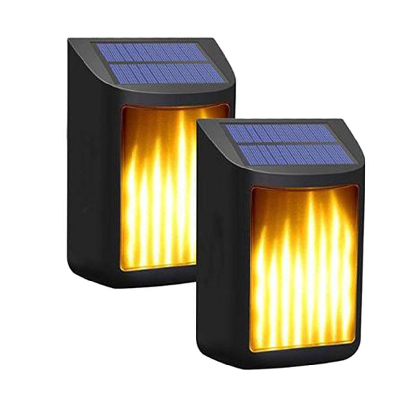 Solar Lights Path Dancing Flame Lighting Waterproof Outdoor Waterproof Solar Wall Lights for Front Door Yard Porch Deck