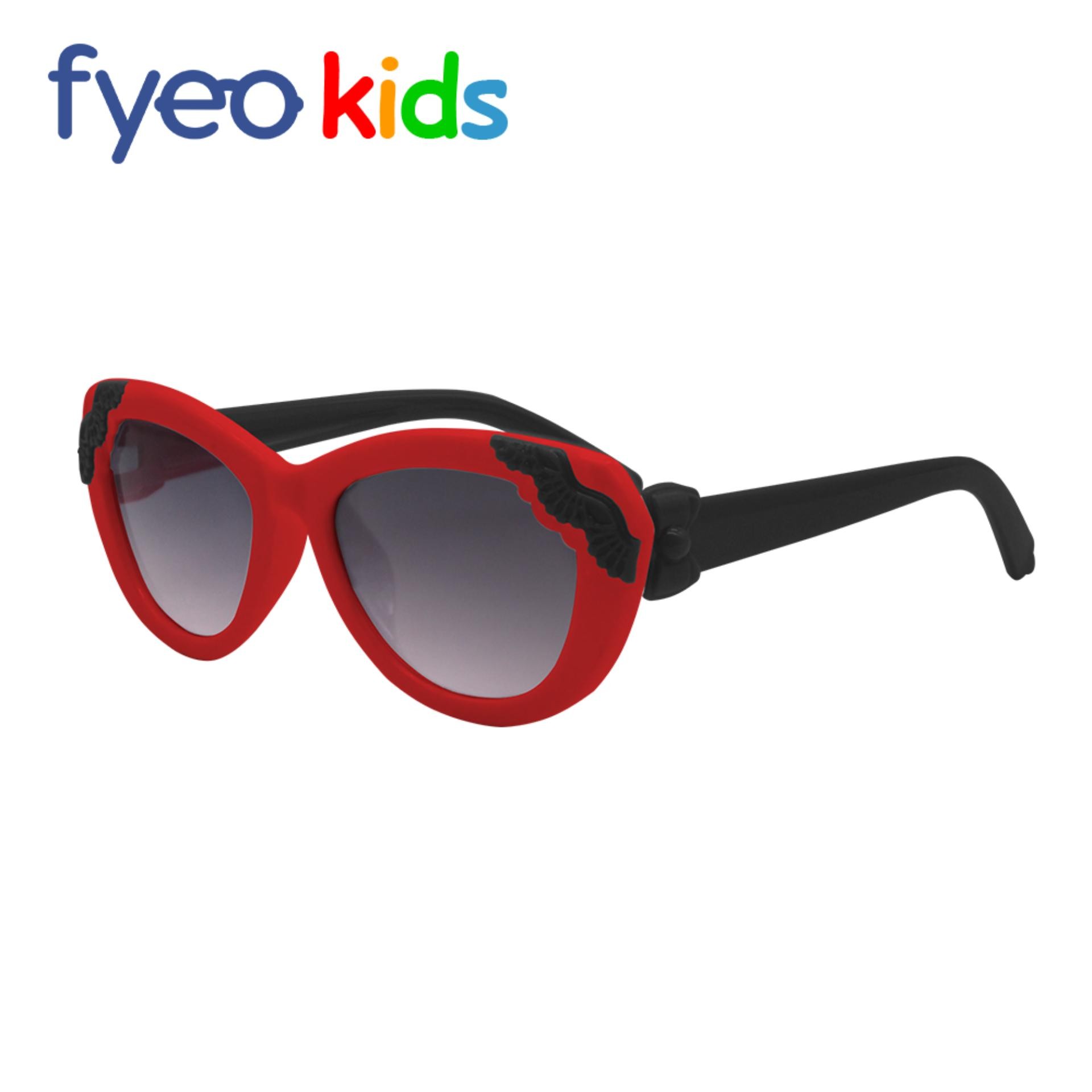 48a11ef768e Anti-UV Sunglasses for Kids Girls Flower Minimal Fashion Sunglasses Frame Red  Leg