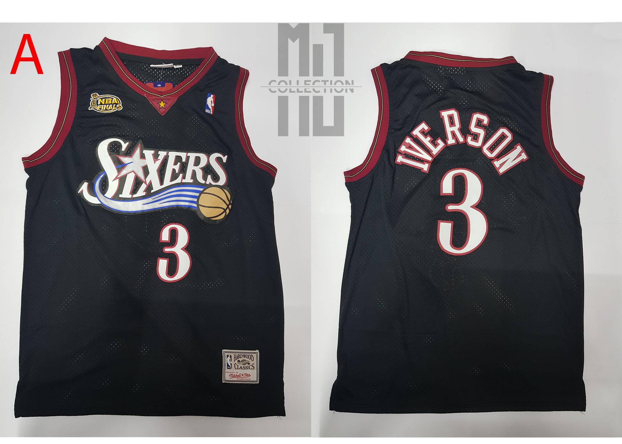 the latest 4d465 b0d56 Allen Iverson - NBA Basketball Jersey (Hardwood Classics)