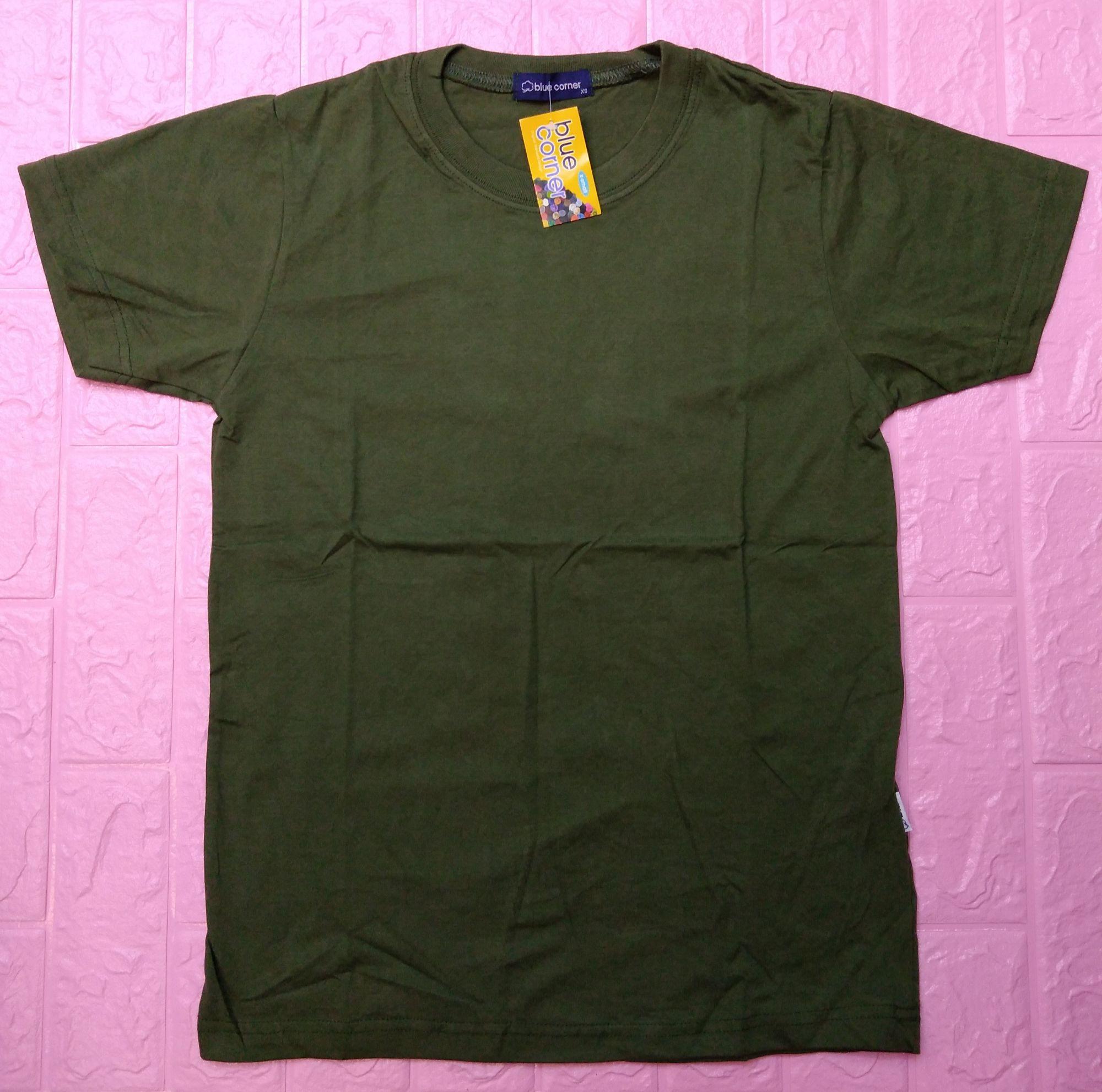 Blue Corner Army Green T Shirt Round Neck For Unisex Lazada Ph