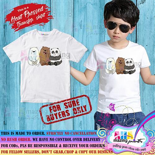 68cf94f6 KIDS SHIRT ❤ We Bare Bears for LITTLE BOY ❤ AHAmazing Prints Kids Fashion  Top Boys