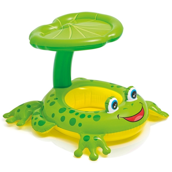 Frog Umbrella Cap Baby Water Sunshade Inflatable Swimming Ring Inflatable Toys Pool Floats for Children Water Pool Rafts