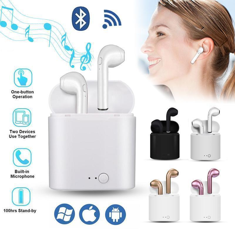 COD I7s TWS Bluetooth Wireless Earphone Stereo Earbuds Headset With  Charging Box Mic For Bluetooth Huawei IOS Samsung Oppo Vivo tablet  Smartphone COD