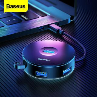 Bộ Chia USB Baseus, 4 Cổng Loại C Hoặc USB Sang USB3.0 + USB2.0 USB-C Máy Tính Cho Macbook Pro Air PC Bộ Chuyển Đổi Type-C HAB thumbnail