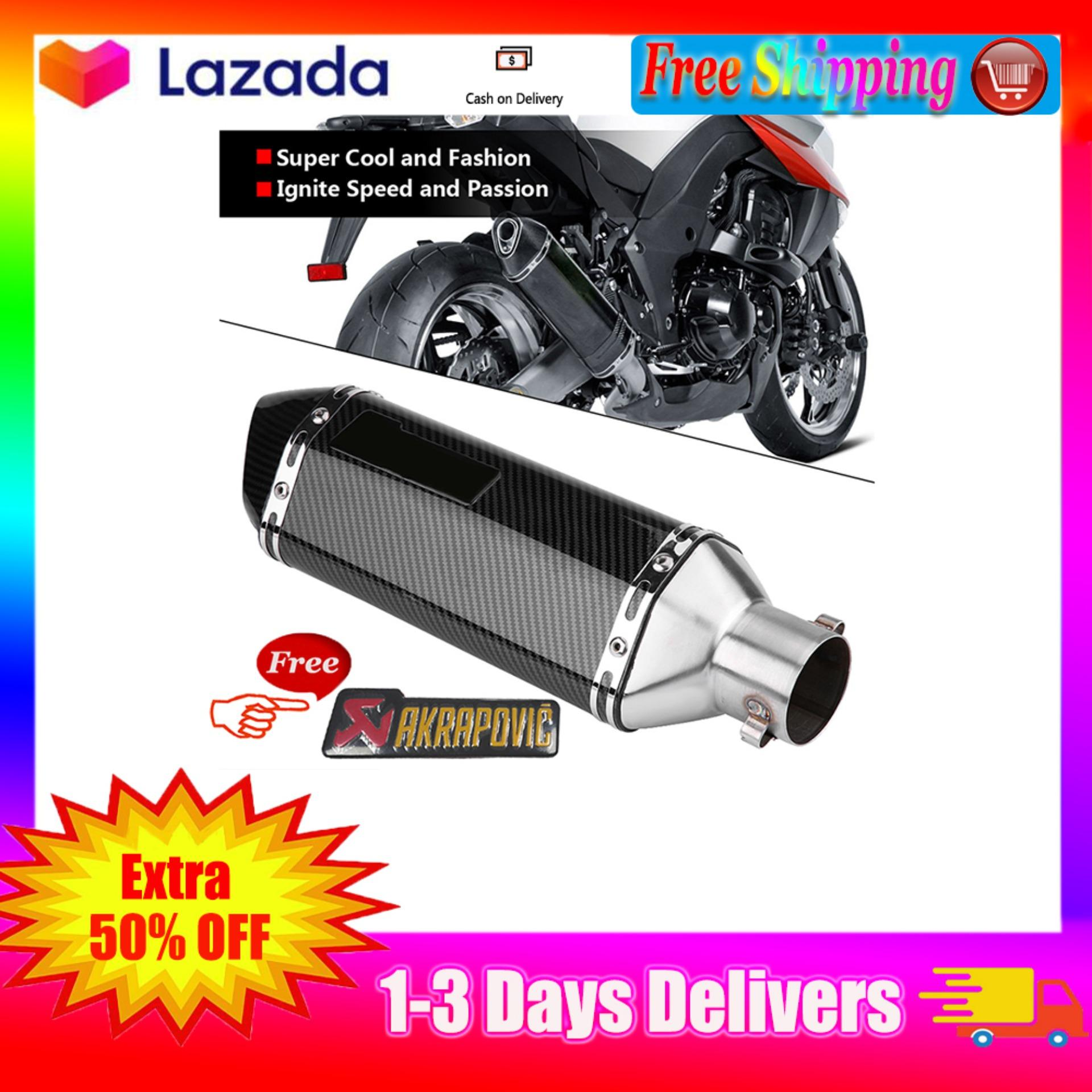 【Free Shipping】QigngYun Professional Motorcycle Racing Bicycle Full Exhaust  System Muffler Tailpipe Rear Pipe for Honda Yamaha Suzuki Kawasaki and