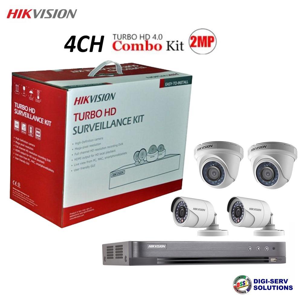 Hikvision TVI-4CH2D2B-2MP 1080P 4CH HDTVI Combo (DS-7204HQHI-K1,  DS-2CE16D0T-IRPF x 2, DS-2CE56D0T-IRPF x 2) ~ AUG FLUSH OUT SALE ~