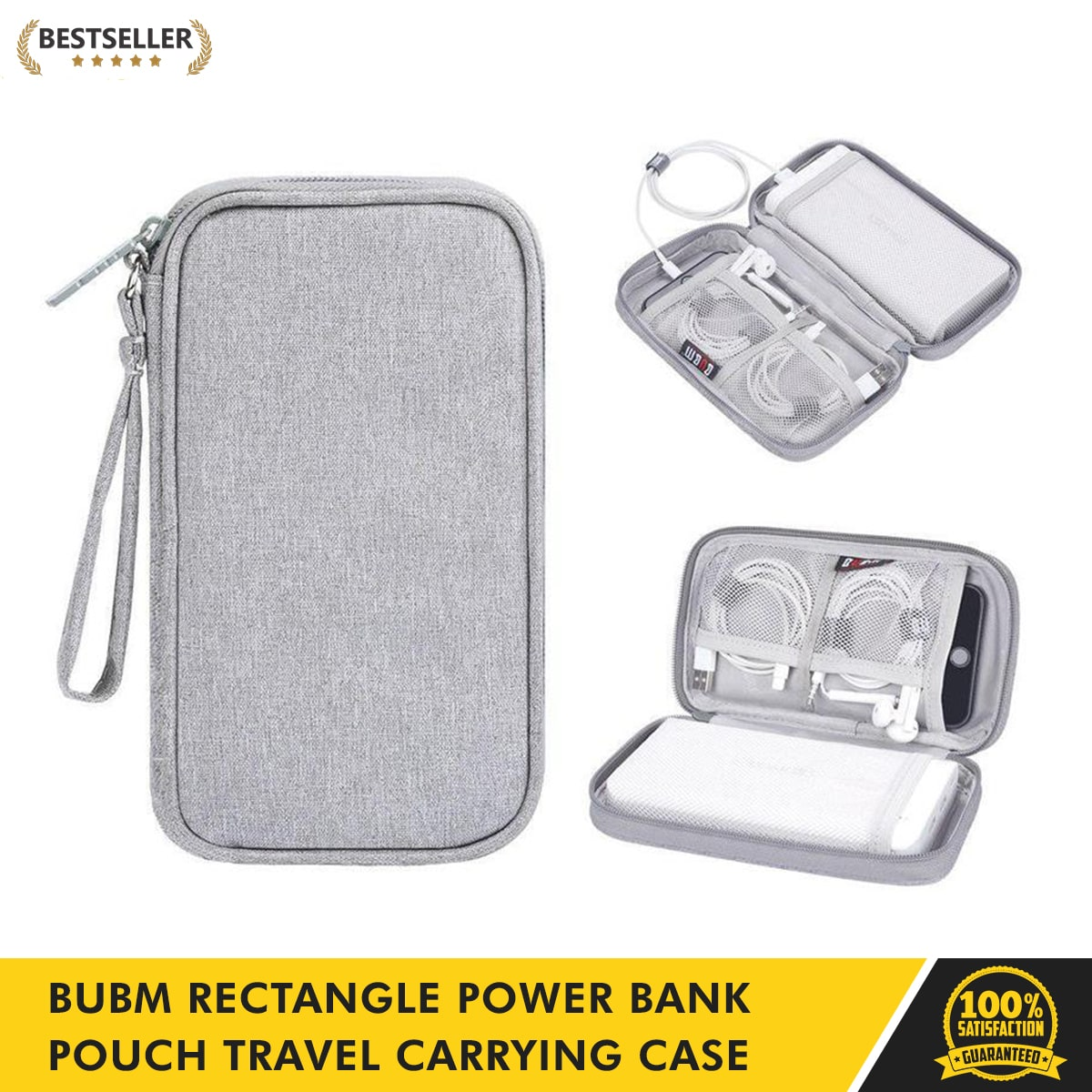 Portable Carrying Travel Case Bag For Charger External Battery Power Bank Cables