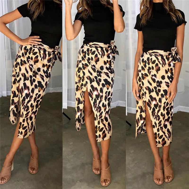 58435b9b59 Summer Women Bandage Leopard Swimwear Bikini Cover Up Sheer Beach Midi Wrap  Skirt Sarong Pareo Short