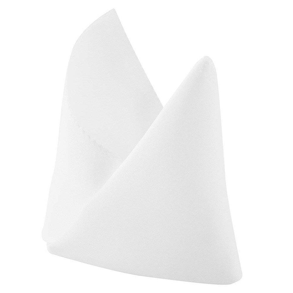 10xSquare Plain Napkin Handkerchief Banquet Party Luncheon Xmas Dinner #22