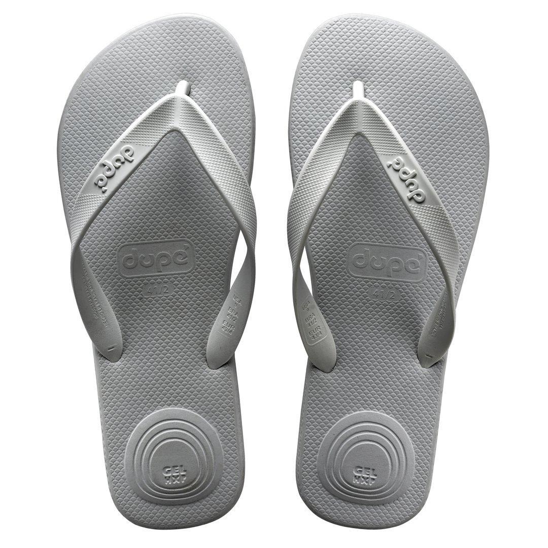 ec9116759 Dupe Revolution Flip Flops Unisex (Steel Gray) - 356